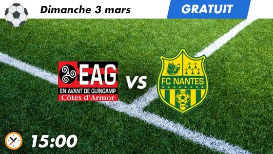 Pronostic Guingamp - Nantes
